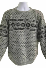 Binghamton Knitting Company Lt. Grey Snowflake Crewneck Sweater