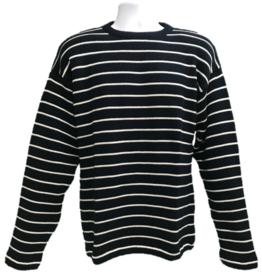 Binghamton Knitting Company Navy/Natural Striped Sweater