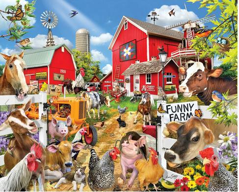 White Mountain Puzzle Funny Farm Seek & Find