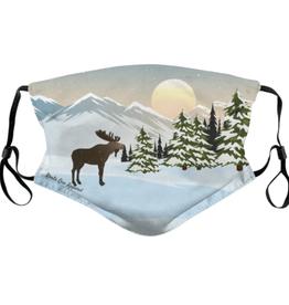 Moose on Snow Mountains