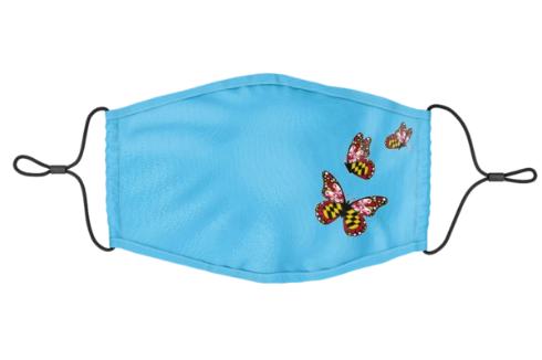 Side Maryland Butterflies (Light Blue)