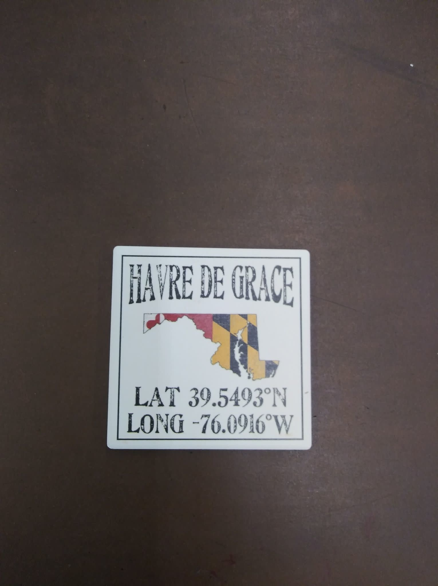 Paint the Town Tile Coaster - HDG Maryland Outline