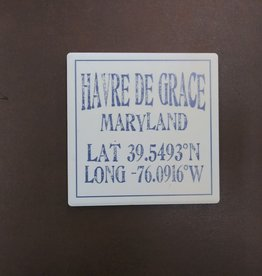 Paint the Town Tile Coaster - Lat & Long