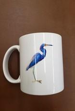 Paint the Town Mug - Blue Heron Watercolor