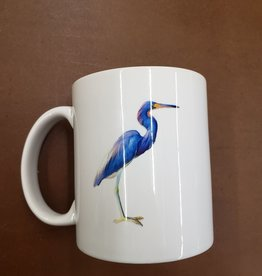 Paint the Town Mug - Blue Heron Watercolor