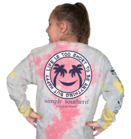 Simply Southern YTH-LS- HAPPY- SKITTLES