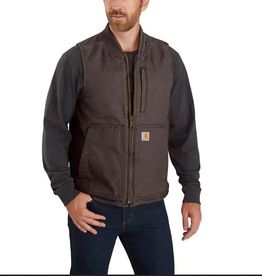 Carhartt Carhartt® Washed Duck Insulated Rib Collar Vest
