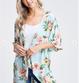 Paper Moon Julie Flower Print Half Sleeve Cardigan