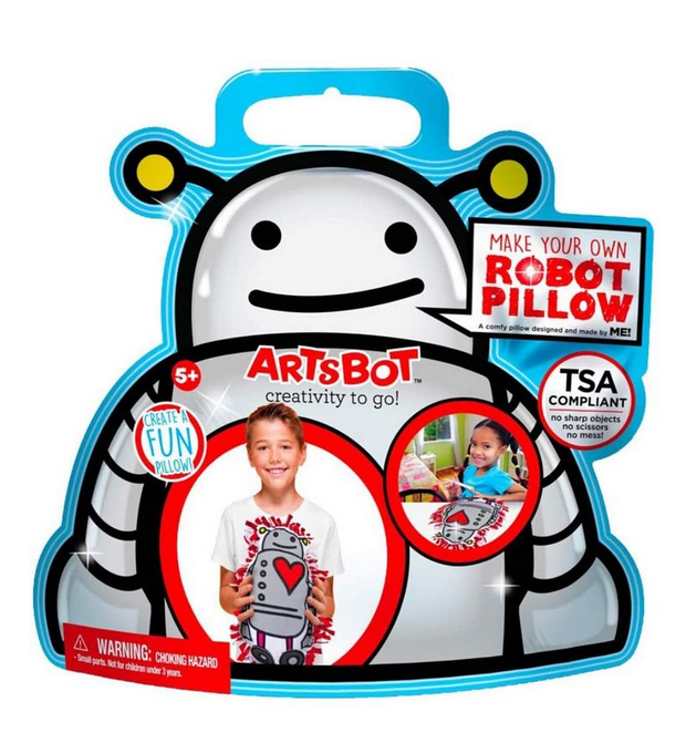 The ArtsBot Robot Pillow