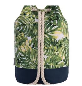 Ever Ellis Cotton Multicolor Palm Leaves Cooler Tote