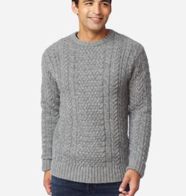 Pendleton Shetland Fisherman Sweater - Grey Heather