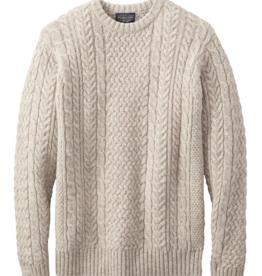 Pendleton Shetland Fisherman Sweater - Oat Heather