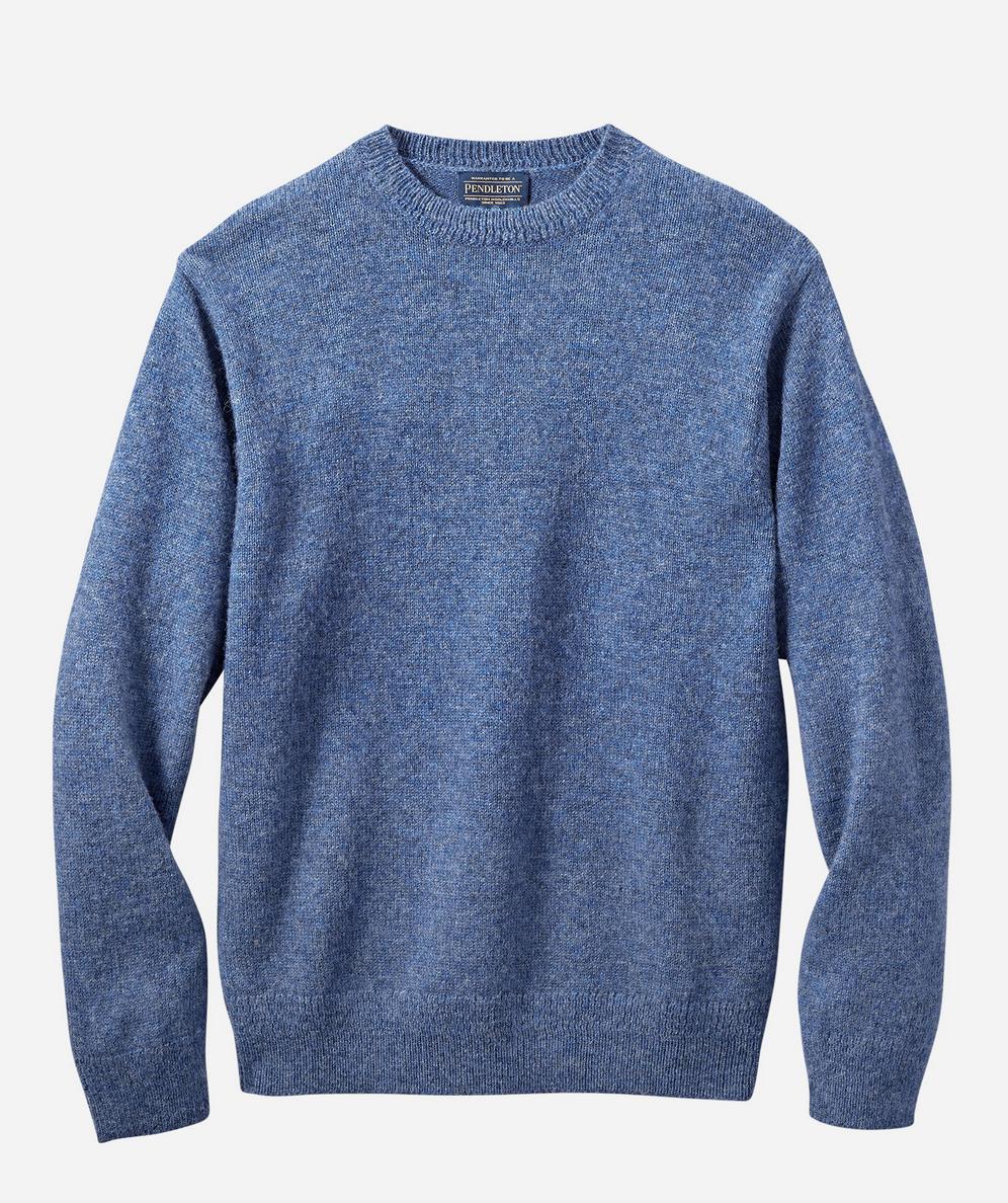 Pendleton Shetland Crew Sweater- Cornflower