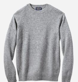 Pendleton Shetland Crew Sweater- Grey Heather