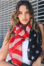 Leto Accessories Vintage Style American Flag Scarf