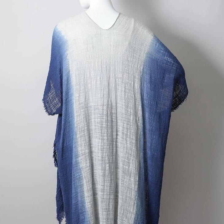 Leto Accessories Cotton Bohemian Ombre Kimono: Ocean