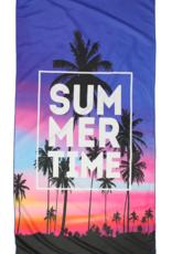 Summertime Sunset Microfiber Beach Towel Mat in Pouch