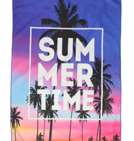 Summertime Sunset Microfiber Beach Towel Mat in Pouch