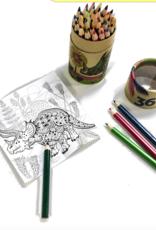 Streamline Dinosaur Color Pencils Set