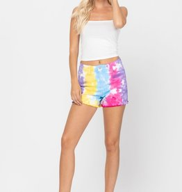 Judy Blue SNOW CONE TIE DYE CUT OFF SHORTS
