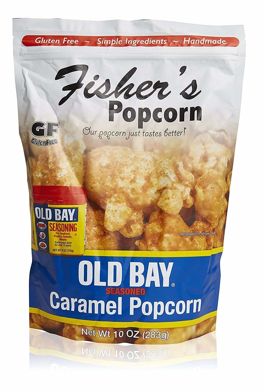 Fisher's Popcorn Large 10 oz Old Bay Caramel Popcorn