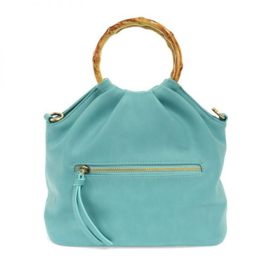Joy Accessories by Joy Susan Natalie Bamboo Handle Pouf Bag