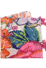 Joy Accessories by Joy Susan Bright Botanical Tassel Scarf