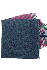 Joy Accessories by Joy Susan Jewel Tone Patch Tassel Scarf