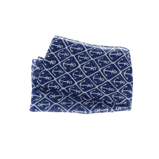 Joy Accessories by Joy Susan Navy & White Anchor Infinity Scarf
