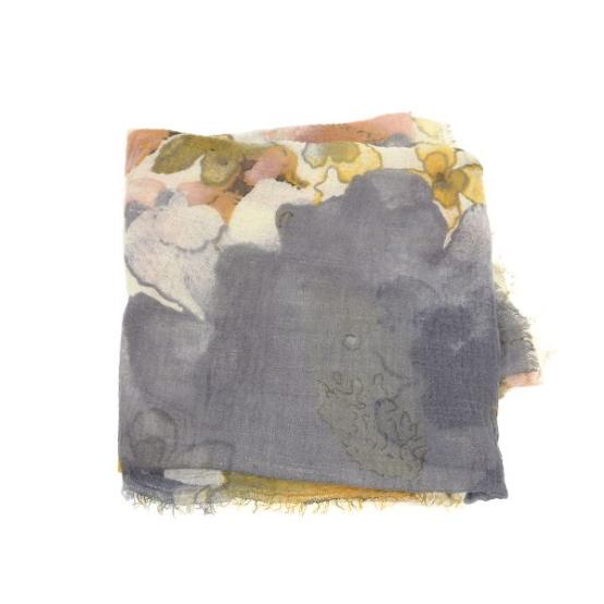 Joy Accessories by Joy Susan Indigo Abstract Floral Scarf