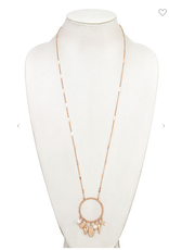 Andrea Bijoux STAR AND SHELL DANGLE PENDANT NECKLACE