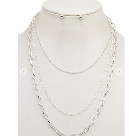Andrea Bijoux LAYERED CHAIN NECKLACE SET
