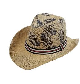 Funteze Accessories Leaf Print Straw Hat