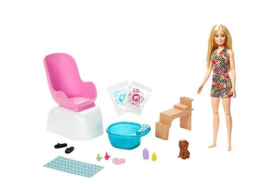 Mattel Barbie Mani-Pedi Spa Playset with Blonde Doll