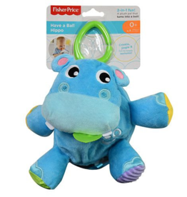 Mattel Fisher-Price Have a Ball 2-in-1 Plush Hippo with Fun Textures