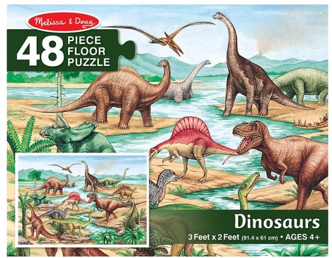 Melissa & Doug Floor Puzzle (48pc)- Dinosaurs