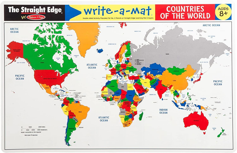 Melissa & Doug Countries of the World Write a Mat