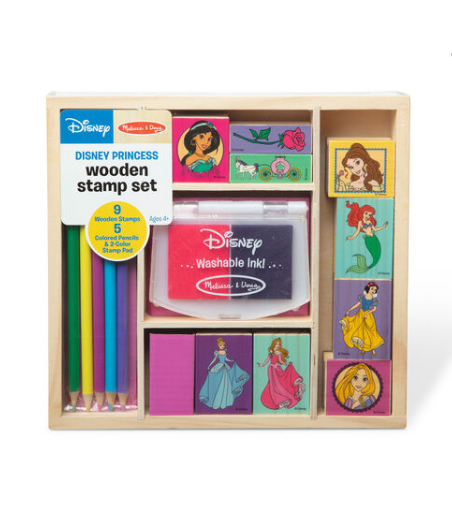 Melissa & Doug Disney Princess Wooden Stamp Set