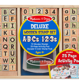 Melissa & Doug Wooden ABC Activity Stamp Set