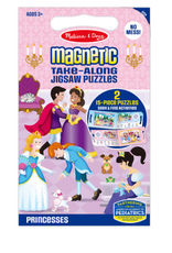 Melissa & Doug Take Along Magnetic Jigsaw Puzzles - Princesses