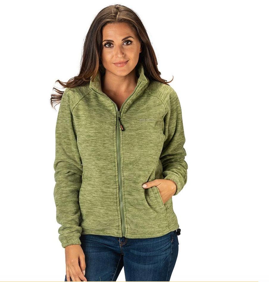 TrailCrest Women's Chambliss Heather Semi Fitted Fleece Jacket