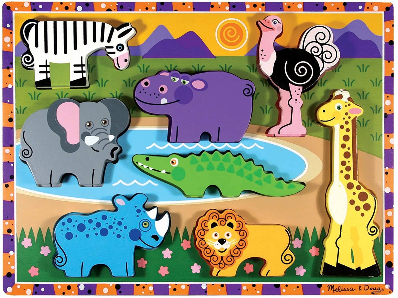 Melissa & Doug Chunky Puzzle- Safari