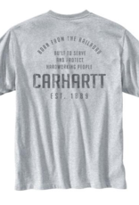 Carhartt 104608 - Heavyweight Railroad Graphic Short Sleeve Pocket T-Shirt