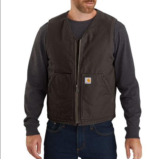 Carhartt 104394 - Washed Duck Vest - Sherpa Lined