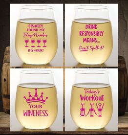 Wine-Oh! Shatterproof Wine Glasses