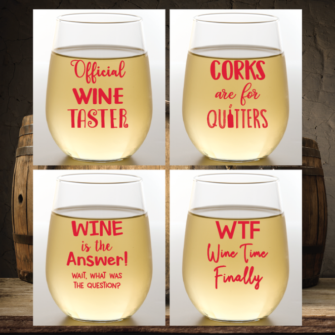 Wine-Oh! Shatterproof Wine Glasses