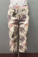 SOFT WORKS 35405 Tan/Floral Print Capri