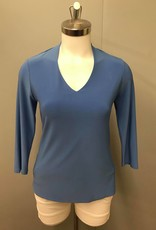 SOFT WORKS 42200 3/4 Sleeve V-Neck Top