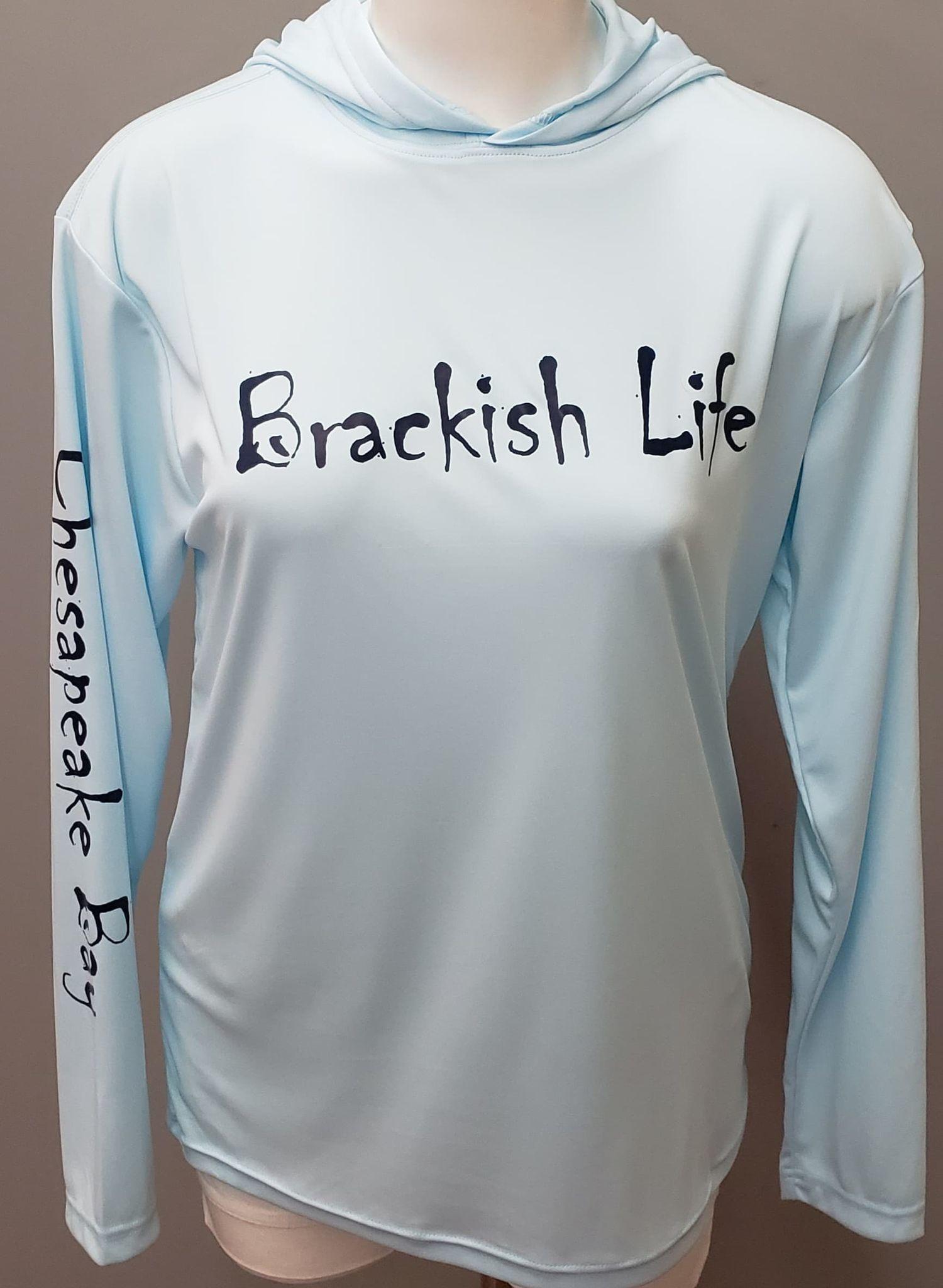 Brackish Life Ice Blue UV Hoodie
