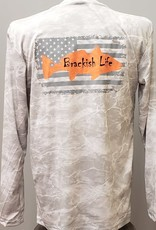 Brackish Life Mossy Oak Bonefish L/S UV, Flag/Fish